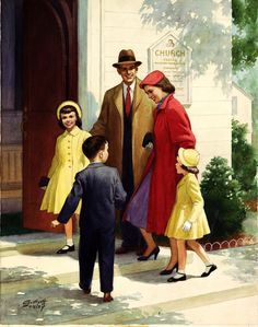 famílias na igreja Vintage - Pesquisa Google