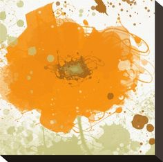 Modern Orange Stretched Canvas Print by Irena Orlov at Art.com