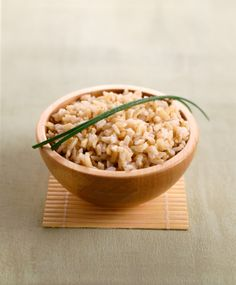 Coconut Brown Rice...soak rice in water for 30mins. combine equal parts brown rice, coconut milk & water. cook in rice cooker