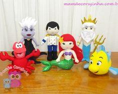 Coleção A Pequena Sereia - 06 bonecos