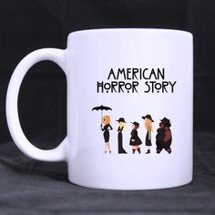 American Horror Story Coven Ceramic Mug 11 oz by CornucopiaStore, // just finished season 3 Wedding Mugs, Wedding Humor, American Horror Story Coven, Favorite Tv Shows, My Favorite Things, Cultura Pop, Ahs, I Am Scared, Horror Stories