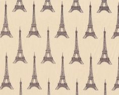 Patchworkstoff I DREAM OF PARIS, Eiffelturm, hellbeige