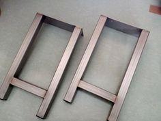 Patas de acero inoxidable, tabla de extremo Industrial las patas, patas de acero Stainleess moderno, comedor patas de banco, juego de 2 patas