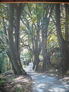 Olio su tela, 50cm x 60cm. Viale alberato dei boschi italiani. Contatto: micheleboscia89@gmail.com Realizzato nel 2010. #art #albero #bosco #viale #paesaggio #italy #grove #boulevard #Oncethetrees #trees #tree #oliosutela #landscape