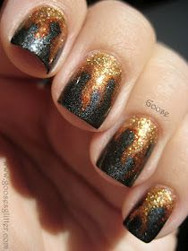 Katniss The Girl On Fire nails for Hunger Games