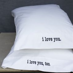 Sweet.  Greenhouse Designs Lovey Dovey pillow cases