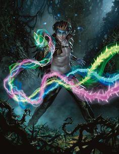 Magic: The Gathering — Chris Rallis Fantasy Art New Fantasy, Fantasy Rpg, Fantasy Artwork, Fantasy World, Character Concept, Character Art, Character Ideas, Concept Art, Mtg Planeswalkers