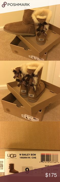 UGGS with Bailey Bow Brand new never worn Uggs with bailey bow. UGG Shoes Winter & Rain Boots
