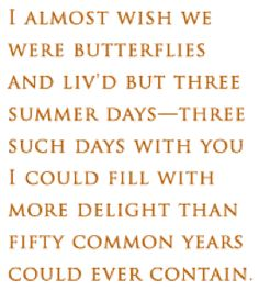 John Keats, one of my favorite quotes of all time.