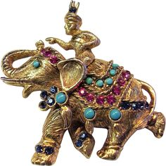 Vendome Vintage Elephant Pin with Rider is featured in Coro Jewelry - A Collector's Guide by Marcia Sparkles Brown on page 185 along with three other