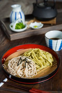 Light and refreshing, this Zaru Soba (Cold Soba Noodles) will be your summer go-to staple. 10-minute is all you need to whip up this delicious easy noodle dish. #coldsoba #zarusoba #coldnoodle | Easy Japanese Recipes at JustOneCookbook.com Easy Japanese Recipes, Japanese Dishes, Japanese Food, Asian Recipes, Ethnic Recipes, Yummy Recipes, Oriental Recipes, Healthy Recipes, Drink Recipes
