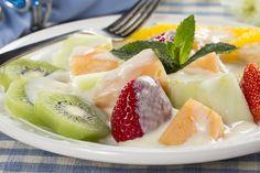 Turn ordinary fruit salad into extraordinary fruit salad with a creamy, yogurt-based sauce that's lightly sweetened.