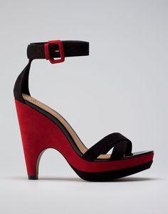 Bershka Turkey - Bershka combined wedge sandals
