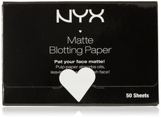 NYX Matte Blotting Paper, White, 50 Count * This is an Amazon Affiliate link. To view further for this item, visit the image link.