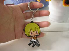 Attack on Titan Cute Style Armin Silicone Keychain Key Chain New