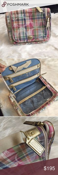 💠 Coach travel and makeup bag New with tags , Perfect for travel  & storage , keep your things organized with this multiple pockets, zip ups, top handle for easy carry all, Coach emblem in front of carrier, can be used for all your health & beauty products. Authentic Coach Brand price is lower on eBay Coach Bags