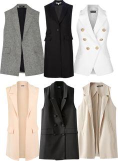 The Best Interview Outfit Ideas For Women: Style Guides interview outfit ideas for women Muslim Fashion, Hijab Fashion, Fashion Outfits, Womens Fashion, Blazer Vest, Blazer Outfits, Dress Vest, Long Blazer, Work Outfits