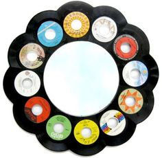 45 mirror....I just found all of my old 45s. I think I know what to do with them now!