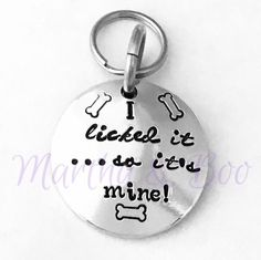 Customised pet ID, personalised dog tag, dog ID disc, pet identity, custom pet jewellery, pet related gift, hand stamped, layered pet ID by MarthaAndBoo on Etsy https://www.etsy.com/uk/listing/459282602/customised-pet-id-personalised-dog-tag