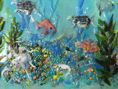 Fused Glass Mural (Pacific Coast) | Designer Glass Mosaics|Designer Glass Mosaics