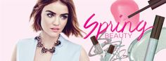 #LucyHale wearing mark. Free & Clear Necklace http://avon4.me/1RQZYT1 and NEW Spring makeup!!! @lucyyhale #springbeauty