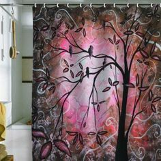DENY Designs Madart Cherry Blossoms Shower Curtain, 69-Inch by 72-Inch: Home & Kitchen