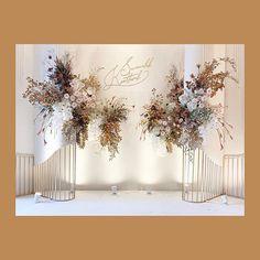 Wedding Flowers & Decoration в Instagram: «The wedding reception #backdrop @renaissancebangkokhotel Decor #hugweddingplanner Flowers #ommee_floral #wedding2019 #decorationideas…»