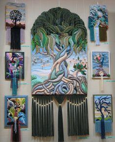 Three-dimensional non-woven tapestry by Armenian artist Yuri Hovsepian - Beauty will save Weaving Projects, Weaving Art, Tapestry Weaving, Loom Weaving, Wall Tapestry, Textile Fiber Art, Textile Artists, Wool Art, Tear