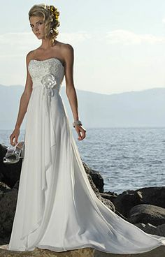 beach wedding dress .... This is exactly what I want!!!!