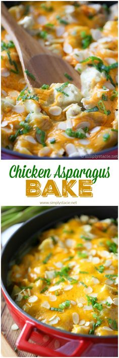 ... asparagus, chicken, creamy curry sauce and smothered in cheese and