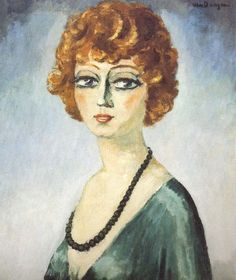 Portrait of a Woman, 1940, by Kees van Dongen (Dutch 1877-1968)
