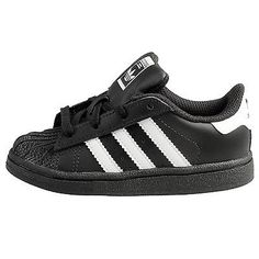 Adidas Superstar Infant D70187 Black White Shoes Toddler Sneakers Td Baby Size  9