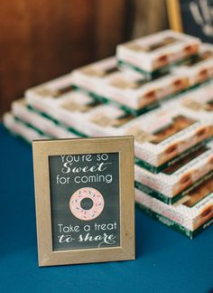 Fall Wedding at Summerfield Farms by Perry Vaile - Southern Weddings Wedding Favours Krispy Kreme, Homemade Wedding Favors, Creative Wedding Favors, Inexpensive Wedding Favors, Elegant Wedding Favors, Edible Wedding Favors, Cheap Favors, Wedding Favors For Guests, Gifts For Wedding Party