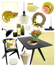 """""""Spring Colors"""" by ladomna ❤ liked on Polyvore featuring interior, interiors, interior design, home, home decor, interior decorating, iittala, nuLOOM, Tom Dixon and The French Bee"""