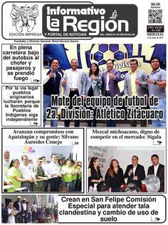 Lea la Edición impresa digital No. 2185 #Zitácuaro, Mich. 12/Julio/2017. http://issuu.com/laregionenlinea/docs/laregion2185/1 #Michoacan