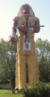 Hiawatha, world's tallest Indian statue, UP of Michigan