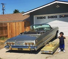 Cars and roads in jokes - 15 pics Nas Hip Hop, Arte Hip Hop, 1963 Chevy Impala, 64 Impala, Arte Lowrider, Lowrider Trucks, Estilo Cholo, Old School Pictures, Cholo Style