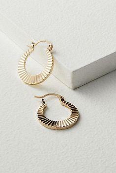 Carrie Engraved Hoop Earrings