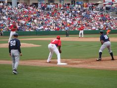 Yankees vs Phillies at Brighthouse Networks Stadium, Clearwater, Florida. Spring Training home of the Philadelphia Phillies... 2009