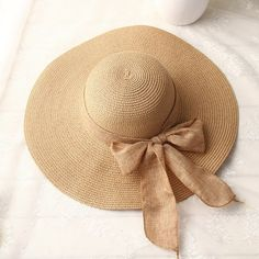 chapeau de paille modèle capeline pour l été Sombreros Para El Sol ae94a0e4b04