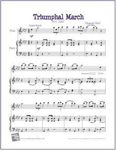 Triumphal March (Aida) | Free Sheet Music for Easy Flute