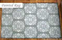 painted rug with stencil...so pretty