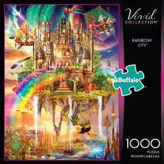 Rainbow City, Buffalo Games, Puzzle Shop, Puzzle Toys, Puzzle Pieces, Puzzle Board, Party Games, Pet Birds, 1000 Piece Jigsaw Puzzles