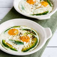 Low-Carb Baked Eggs with Avocado and Feta