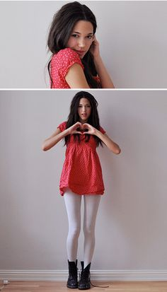 """Heartdotted Valentine's dress."" by Signe S on LOOKBOOK.nu"