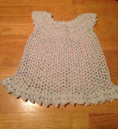 Crochet Baby Dress   Crochet Clothes for by MaryDSerenityDesigns
