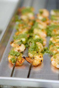 Clean Eating Barbecued Shrimp With Cilantro Pesto
