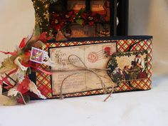Creative Cafe': Christmas Emporium Altered Cigar Box And Mini Album