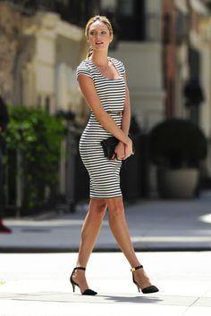 Candice Swanepoel stripe dress.