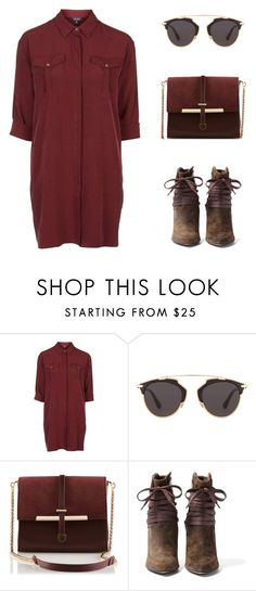 """""""Reckless"""" by felytery ❤ liked on Polyvore featuring Topshop, Christian Dior, IRO, women's clothing, women, female, woman, misses and juniors"""